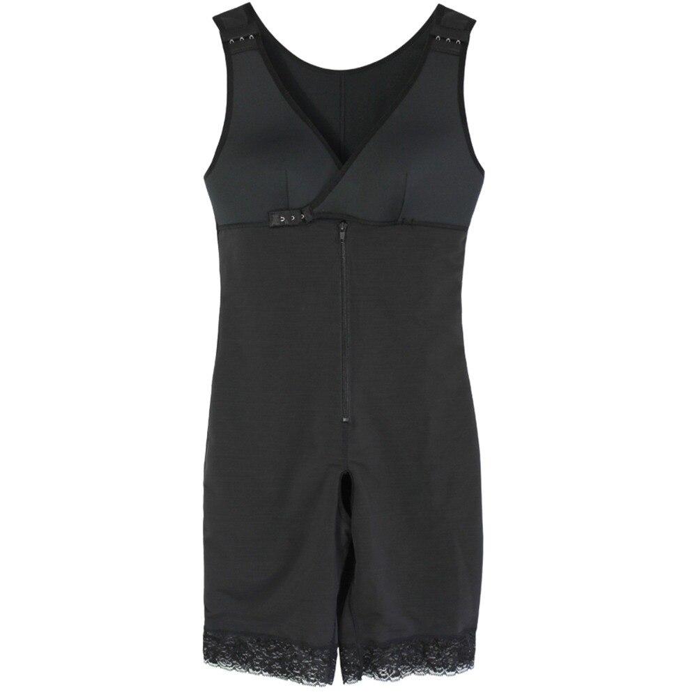 Women's Open Crotch Body Shaper Tummy Control Underwear Black Beige Plus Size 6XL Bodysuit Deep V Overbust Adjustable Shapewear (5)