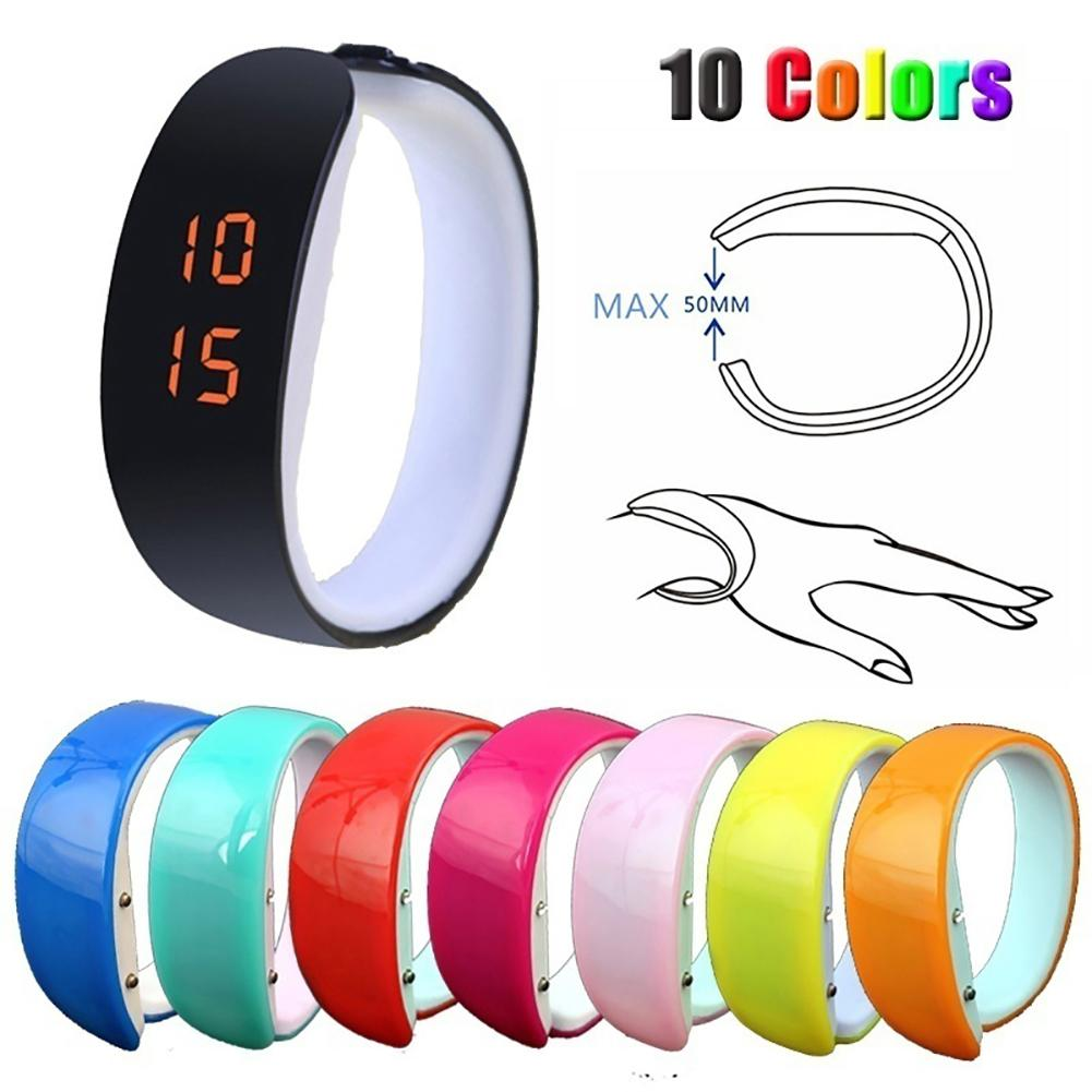 Fashion Men Women LED Sports Bracelet Digital Display Silicone Wrist Watch Gift