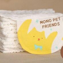 New 100% Pure Cotton Baby Sweat Towel Four 45*21 Infants Cotton Comfort Cute Cartoon Kids Soft Face Towel Baby