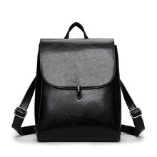 Fashion Women Backpack High Quality Youth Leather Backpacks for Teenage Girls Female School Shoulder Bag Lock Bagpack mochila цены онлайн