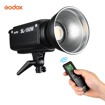 Godox SL150W 5600K 150W High Power LED Video Light Remote Control Adjustable Brightness Bowens Mount for Studio Video Recording