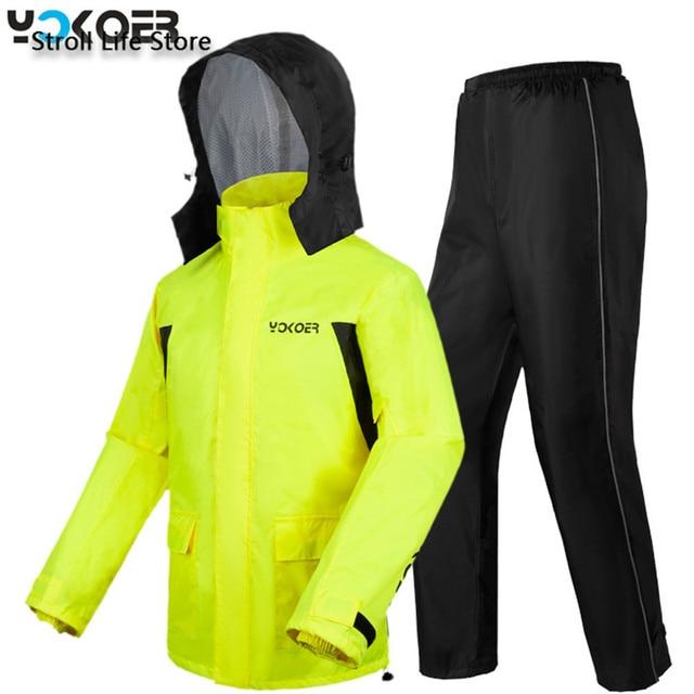 Motorcycle Rain Jacket Raincoat Men Rain Pants Set Waterproof Suit for Fishing Rain Coat Mens Sports Suits Capa De Chuva Gift 5