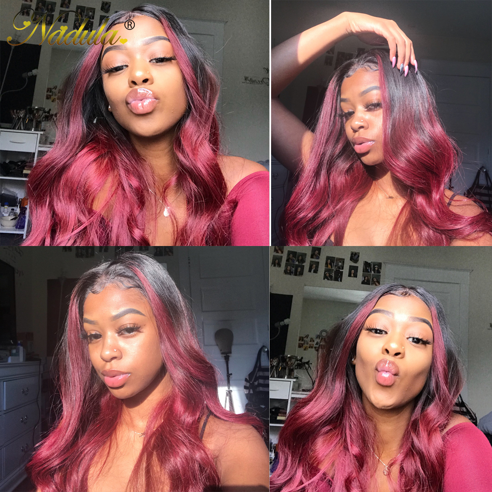 4x4 Lace Closure Wigs 1B/99J Straight Closure Wig  Brazlian Virgin Hair Wigs 10-20inch  Wig Pre Plucked 5