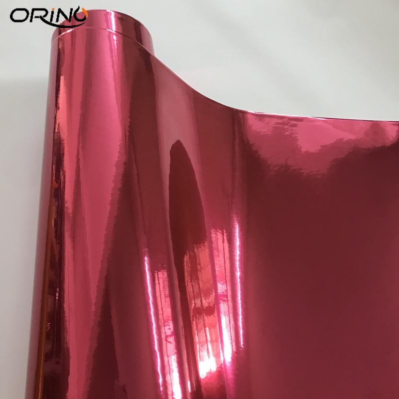 Rose Red Chrome Vinyl Wrap Sticker-2