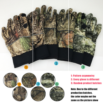 Camouflage Fishing Gloves Hunting Gloves Anti-Slip 2 Fingers Cut Outdoor Camping Cycling Half Finger Sport Gloves Camo 6