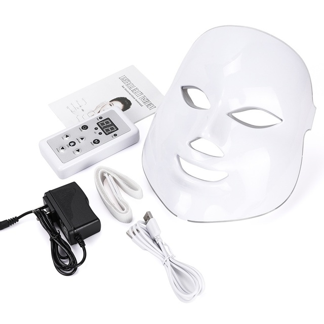 foreverlily Beauty Photon LED Facial Mask Therapy 7 colors Light Skin Care Rejuvenation Wrinkle Acne Removal Face Beauty Spa 1