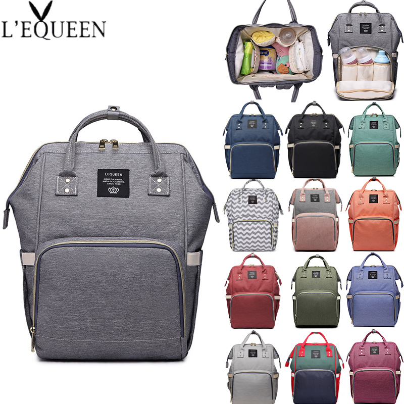 Lequeen Diaper Bag Mummy Maternity Bag Large Capacity Baby Nappy Bag Women Travel Backpack Designer Nursing Bag Baby Bag