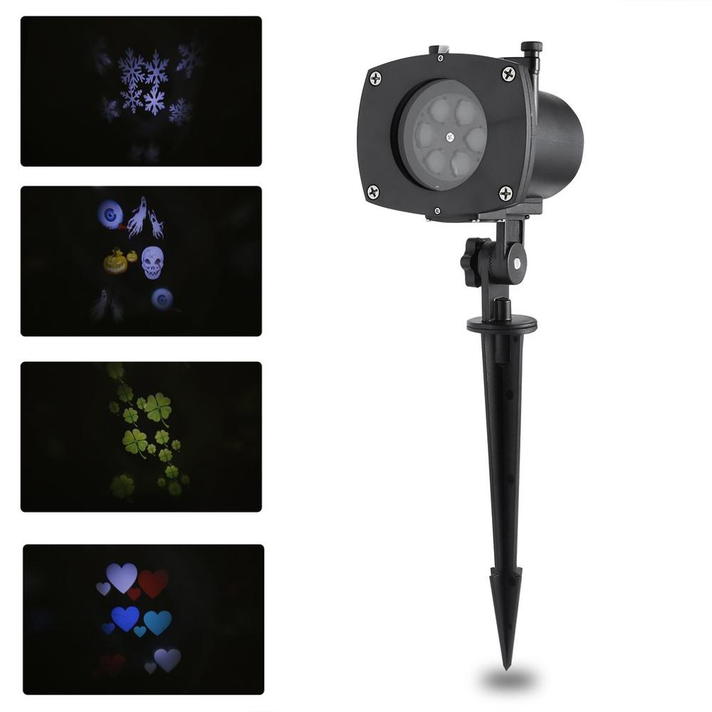 11PCS LED Switchable Pattern Gobos Slides Waterproof Sparkling Landscape Projector Lights Christmas Holiday Party Home Decor