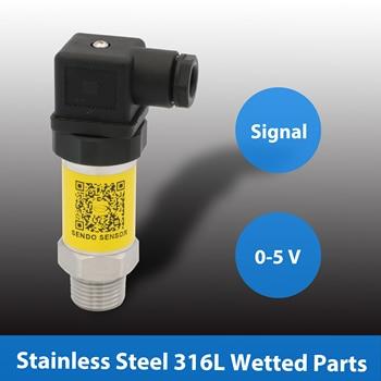 0 5V pressure sensor transmitter, gauge pressure 0 to 35, 100 kpa, 1, 4, 10, 25, 40 mpa, 0 to 0.35, 1, 10, 40, 100, 250, 400 bar