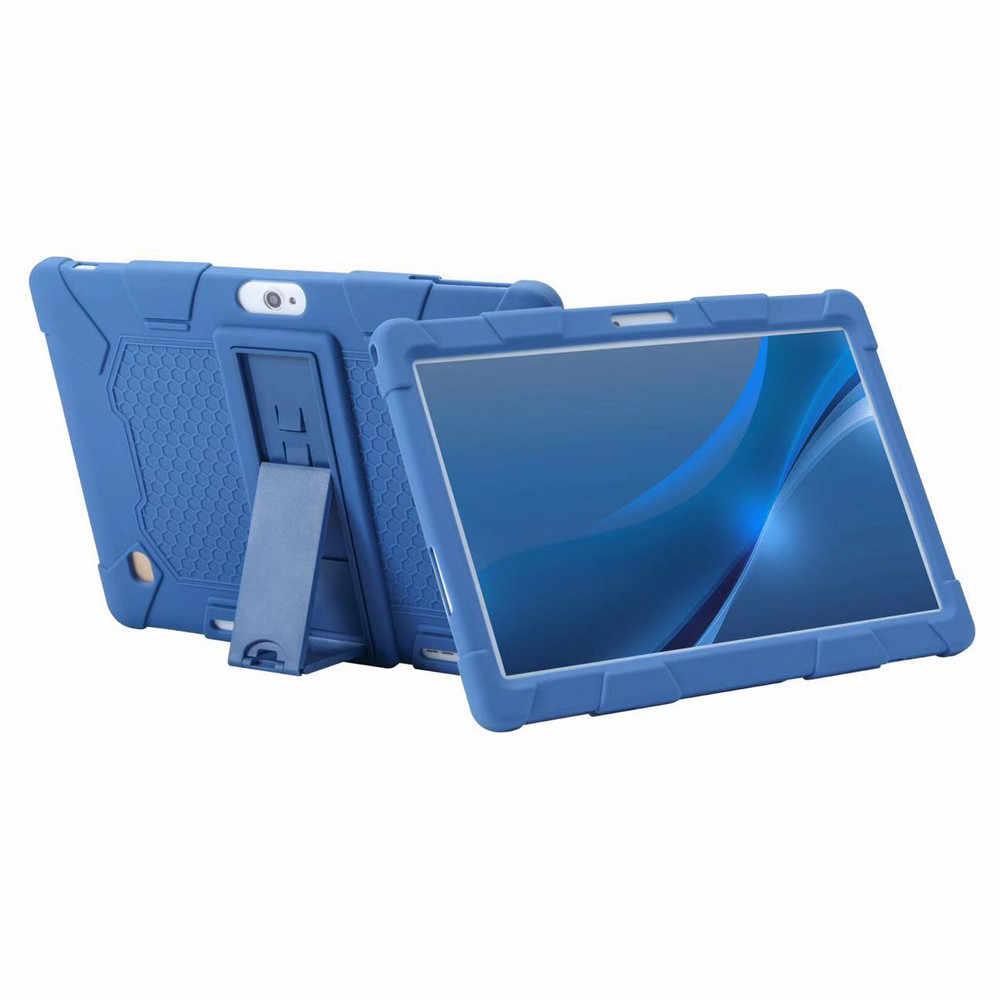 キャンディーカラーユニバーサルシリコーンタブレットカバーのための 10 インチ/10.1 インチのアンドロイドタブレット pc ソフトシリコンスタンドホルダー z1122