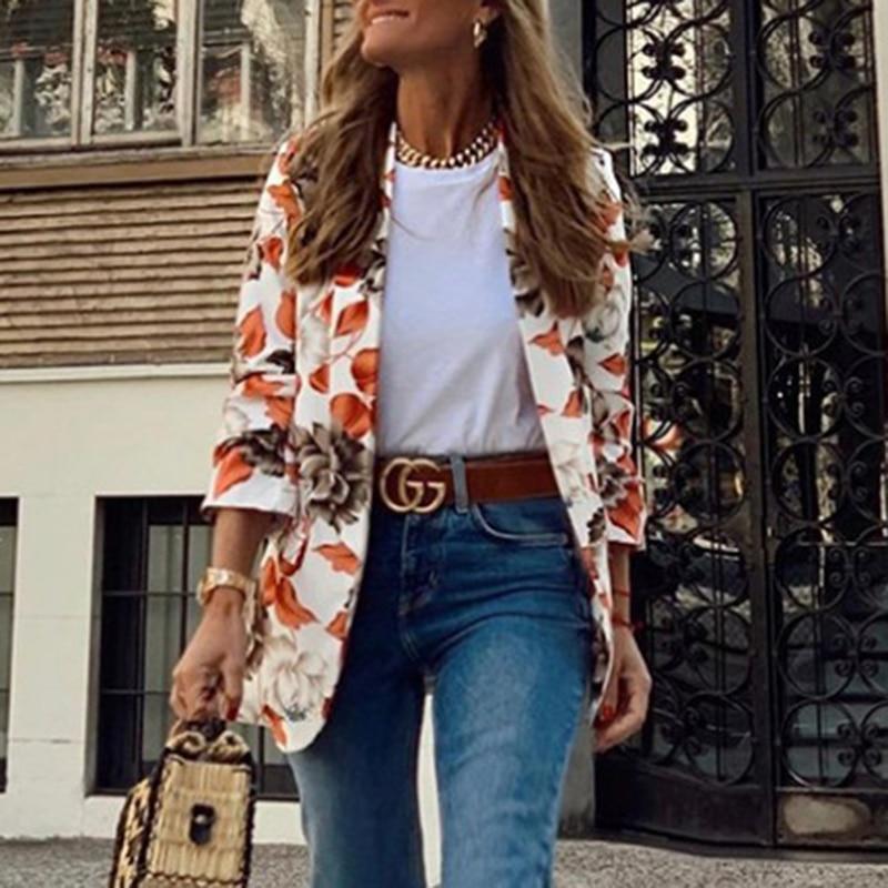 H80bf1a84d5d14fbe965efed47d1969a63 Fashion Trend Women Lapel Leopard Print Long Sleeves Suit Jacket Elegant Fall Winter Office Lady Cardigan Coat Casual Streetwear