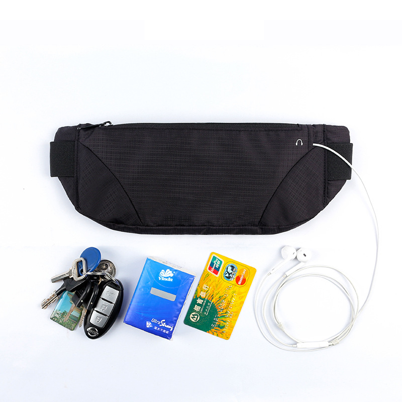 Outdoor Sports Waist Pack Anti-theft Pocket Fitness Riding Wallet Elasticity Body Hugging Belt Bag Factory Currently Available