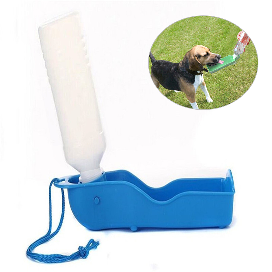 Foldable Plastic Dog Cat Drinking Water Feeder 1pc Dog Travel Water Bottle Dispenser Portable Outdoor Pet Puppy Bowl 250ml 500ml