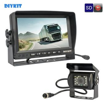 "DIYKIT AHD 7"" IPS Screen Car Monitor Rear View Monitor Waterproof IR 960P AHD Camera Support SD Card Video Recording"