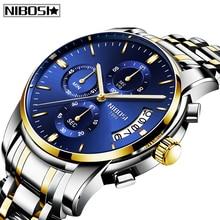 цены NIBOSI Mens Watches 2020 Fashion Top Brand Luxury Sport Military Quartz Watch Men Big Dial Business Men Watch Relogio Masculino