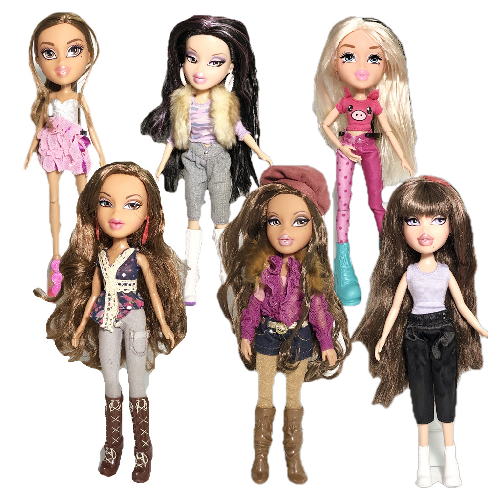 New 23cm Original Fashion Big Mouth Bigfoot Girl Mgadoll Action Figure Bratz Doll Beautiful Doll Best Gift For Child