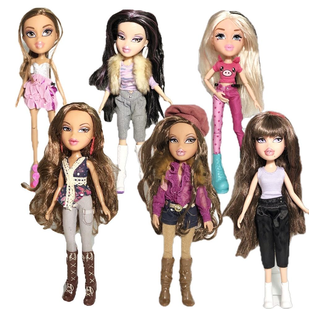 New 23cm Original Fashion Big Mouth Bigfoot Girl Mgadoll Action Figure Bratz Doll Beautiful Doll Best Gift For Child