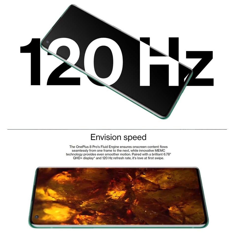 Globale ROM Oneplus 8 pro 5G Handy 12GB 256GB /8GB 128GB 6.78