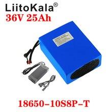LiitoKala 36V 25ah 18650 10S8P אופניים חשמליים סוללה 36V 25AH 1000W ליתיום סוללה מובנה 20A BMS חשמלי אופני מנוע