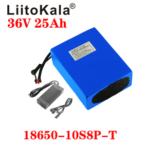 Image 1 - LiitoKala 36V 25ah 18650 10S8P אופניים חשמליים סוללה 36V 25AH 1000W ליתיום סוללה מובנה 20A BMS חשמלי אופני מנוע