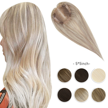 Moresoo Hair Topper Machine Remy Human Hair Toppers peruka kobiety 5*5 cali 8-10 cali Pure Color kolor Ombre Balayage kolor