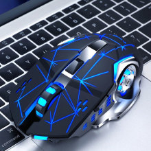 Silent Gaming Wireless Mouse 2.4GHz 2000DPI Rechargeable Wireless Mice USB Optical Game LED Backlight Mouse for PC Laptop vmw 138 2 4g wireless 2000dpi laser mouse white grey 2 x aaa