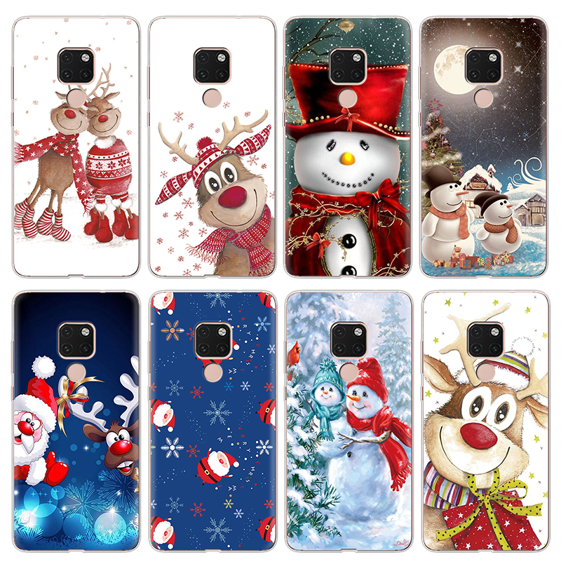 Christmas Clear Print Soft TPU Phone Case For <font><b>Huawei</b></font> Nova 3 3i 4 5 Plus <font><b>Y5</b></font> Y6 II Y7 Y9 Pro <font><b>2018</b></font> Prime 2019 2017 G7 G8 Case Cover image