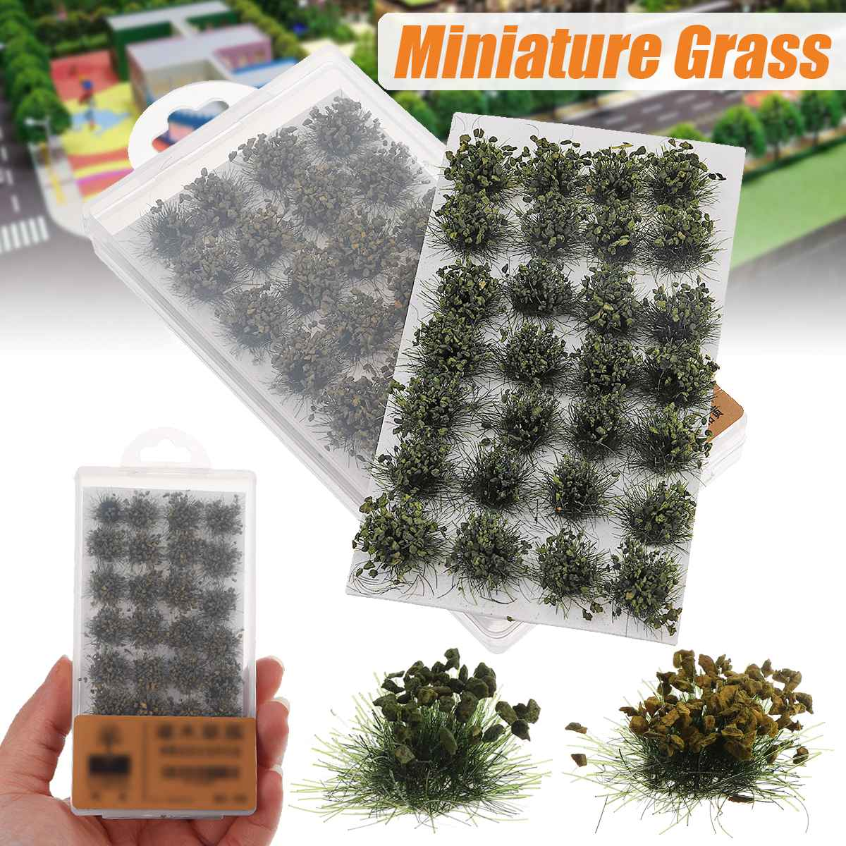 DIY Handmade Building Materials Simulation Model Scene Simulated Bush Scale Model Grass Tuft Grass Needle Grass Model 2 Colors