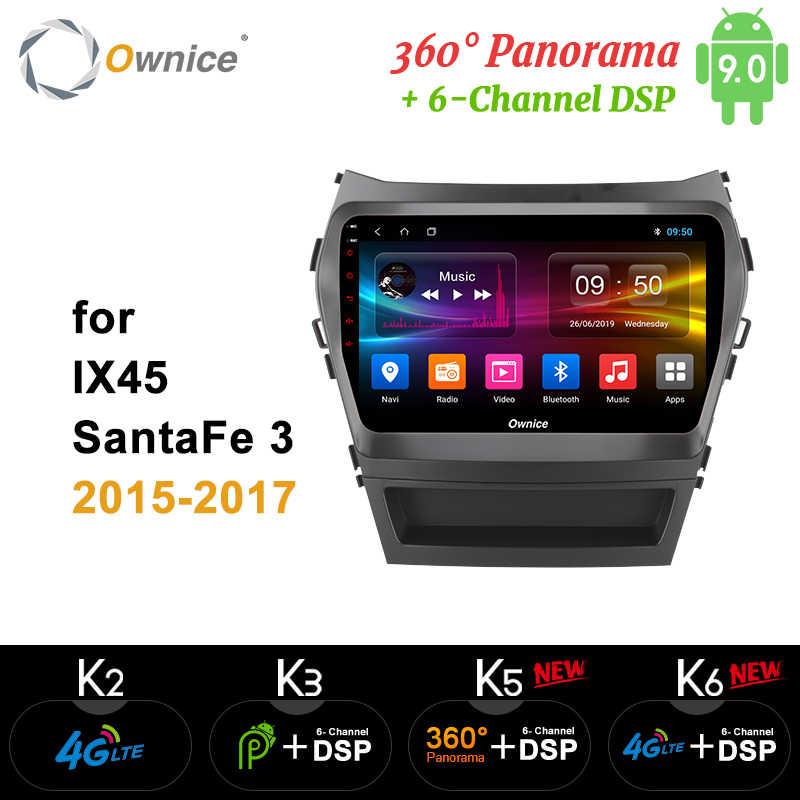 Ownice K1 K2 K3 Octa 8 Core android 9.0 auto dvd-speler Voor Hyundai Santa FE IX45 2015 2016 2017 stereo auto radio gps navigatie