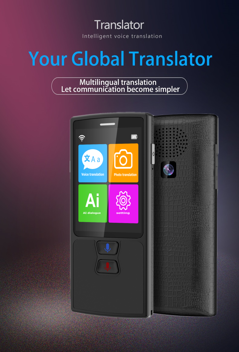 76 Languages Pocket Voice Translator for Travel translator with HD Touch Screen including WIFI and Hotspot Networking Methods 1