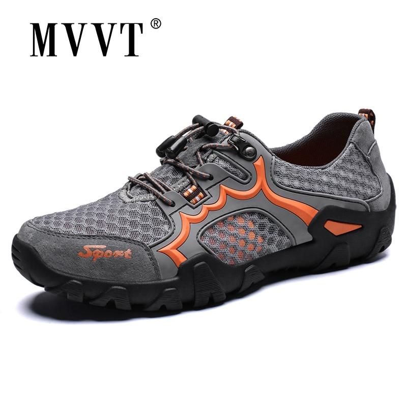 Mvvt malha respirável sapatos casuais homens verão ao ar livre sapatos quik-seco homem sapatos planos