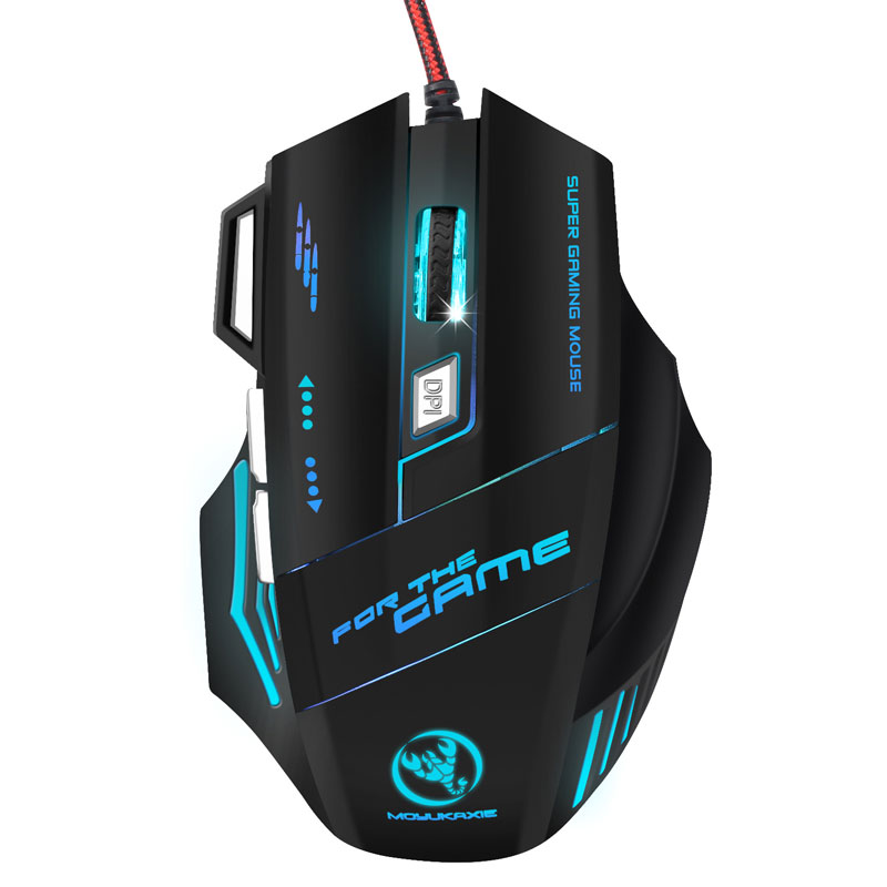 Wired Gaming Mouse 5500DPI Gamer Mouse LED Optical USB Wired Mice 7 Buttons Gamer Computer Mice With Backlight For Laptop PC