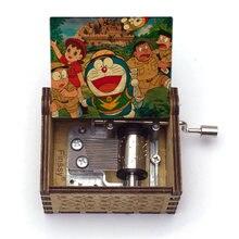 Деревянная музыкальная шкатулка с изображением дораэмона шизуки