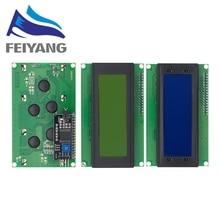 10 Chiếc LCD2004 + I2C 2004 20X4 2004A Xanh Dương/Xanh Màn Hình HD44780 Nhân Vật LCD/W ĐỔI IIC/I2C Giao Tiếp Nối Tiếp Adapter Mô Đun