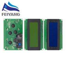 10 sztuk LCD2004 + I2C 2004 20x4 2004A niebieski/tło green screen HD44780 LCD/w IIC/I2C Adapter interfejsu szeregowego modułu