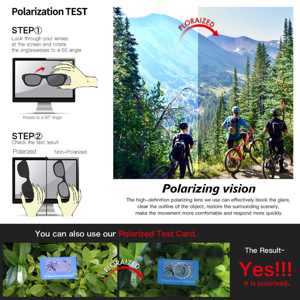 QUESHARK 4 Lens Cycling Glasses Bicycle Goggles for Men Women Polarized Cycling Eyewear UV400 Road MTB Bike Sunglasses QE44 3