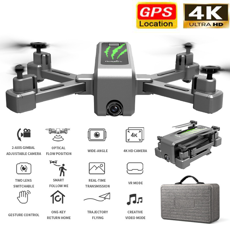 Drone With HD Aerial Video Camera 4k WIFI PFV RC Drones Rc Helicopter Fpv Quadrocopter Dron Foldable <font><b>Toy</b></font> Drone image