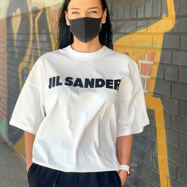 100%Cotton Jil Sander Super Chic Letters Printed T Shirt for Women Oversized Summer Tshirts Simple Streetwear Top Fashion Ladies 1