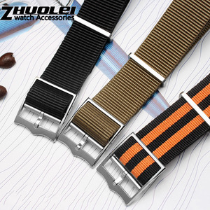 Image 4 - Militaire Nylon horlogeband Tudor Horloge Band 22mm Franse Troepen Nato Zulu Parachute Armband Accessoires