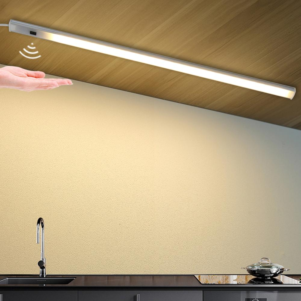 Luz LED inteligente de 5V alimentada por USB para cocina, lámpara con Sensor de barrido manual, retroiluminación de alto brillo para armarios y cajones de 30/40/50 cm|Luces para armario|   - AliExpress