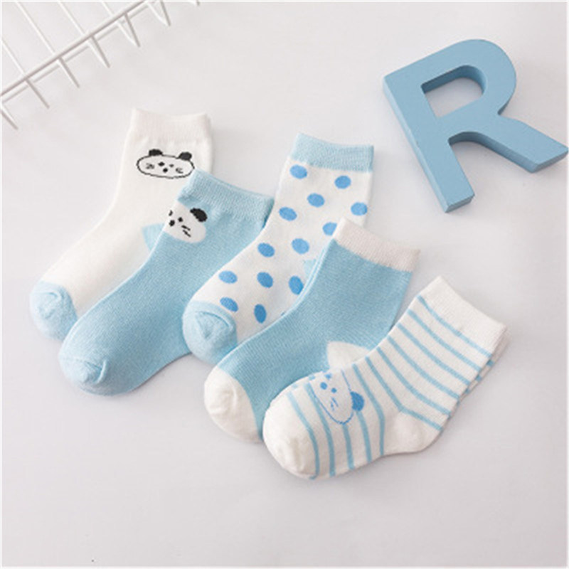 5Pcs/Lot Cotton Cartoon Children Girls Boys Socks Casual Breathable For Kids Baby Socks For Birthday Toddler Gifts Clothes