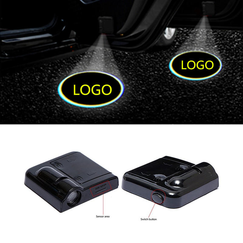 2X LED Car Door Welcome Light Project Logo For Hyundai Ioniq Accent I30 Ix35 Elantra Santa Fe Tucson I20 Sonata I40 I10 I25 Ix35