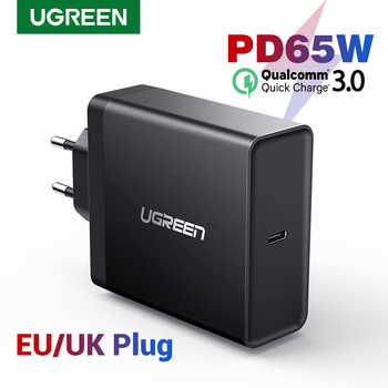 Ugreen PD 65W cargador USB tipo C para Apple MacBook Air iPad Samsung ASUS Acer Tablet cargador para Nintendo interruptor