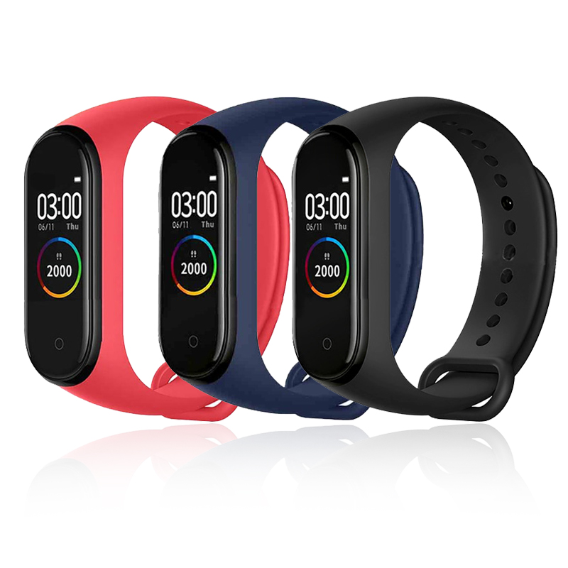 <font><b>M4</b></font> <font><b>Smart</b></font> <font><b>Band</b></font> Waterproof Fitness Sport <font><b>Smart</b></font> Bracelet Fitness Tracker Heart Rate Blood Pressure <font><b>M4</b></font> <font><b>Band</b></font> pulsera inteligente image