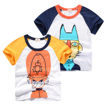 цена на 2019 Boys & Girls Cartoon T-shirts Kids Cartoon T Shirt for Boys Children Summer Short Sleeve T-shirt Cotton Tops Boys Clothing