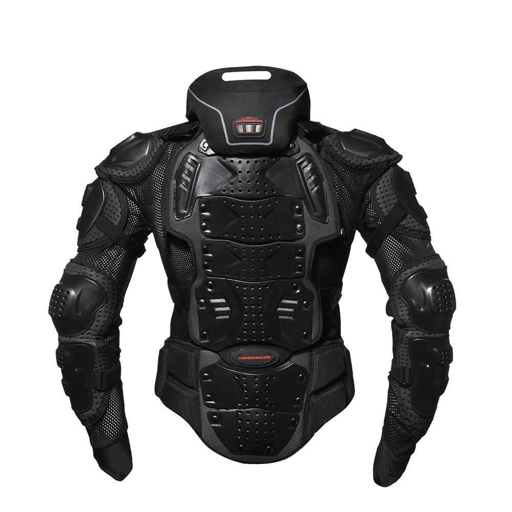 HEROBIKER motosiklet ceketler motosiklet zırhı yarış vücut koruyucu ceket motokros motosiklet koruyucu donanım + boyun koruyucu