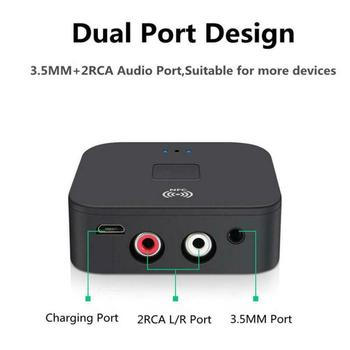 Wireless Bluetooth 5.0 4.2 Audio Receiver aptX LL RCA NFC 3.5mm Jack Aux Audio Adapter For Car computer wire speaker Home Stereo