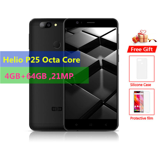 Original ELEPHONE P8 Mini 4G Mobile Phone 4GB RAM 64GB ROM Helio P25 Octa Core Android 7.0 21.0MP Fingerprint ID 5.0