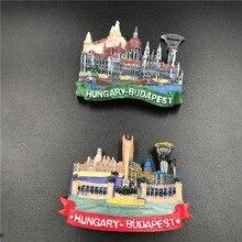 Tourist souvenir decoration Hungary Budapest Austria Vienna panorama refrigerator paste resin magnetic tourist souvenir crafts