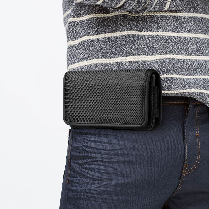 Universal Mobile Phone Pouch Nylon Durable Waist Bag Phone <font><b>Cases</b></font> Covers 3.5-6.3 inch Hangable On <font><b>Belt</b></font> image